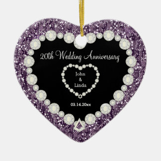 Any Wedding Anniversary Purple Glitter | DIY Text Christmas Ornament