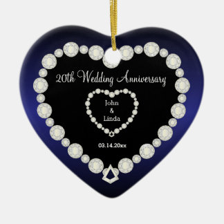 Any Wedding Anniversary | Sapphire Blue | DIY Text Christmas Ornament