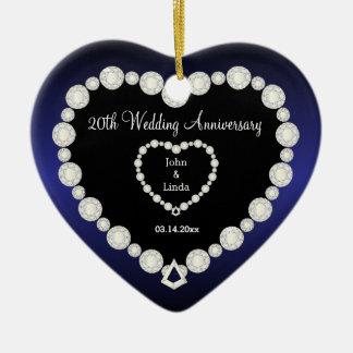 Any Wedding Anniversary | Sapphire Blue | DIY Text Christmas Ornament