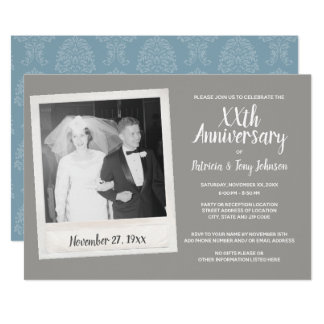 Any Wedding Anniversary with Vintage Photo Card
