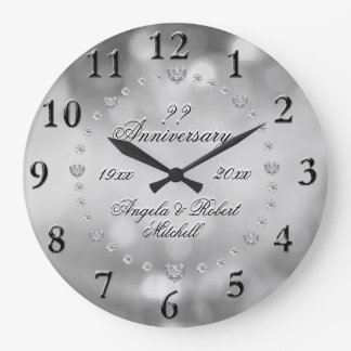 Any Year Anniversary Elegant Wallclock