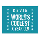 ANY Year Birthday World's Coolest Teal T15Z Postcard
