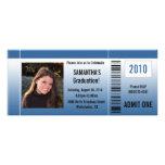 Any Year~ Blue Graduation Party Ticket Custom Invite