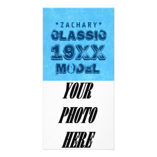 Any Year CLASSIC MODEL Grunge Text A05 Personalized Photo Card