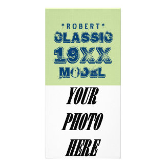 Any Year CLASSIC MODEL Grunge Text Green G10Z Photo Cards