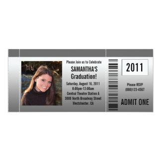 Any Year~ Photo Graduation Party Ticket Invitation