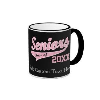 Any Year, Senior Class Pink/Black Graduation Coffee Mug