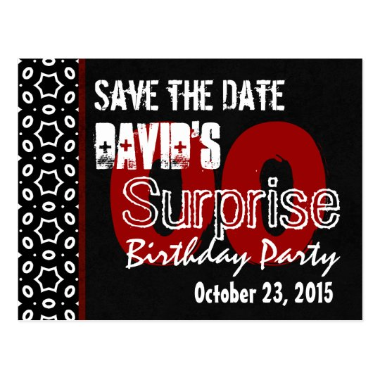 Any Year Surprise Birthday Save the Date W103