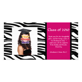 Any Year~ Zebra Graduation Thank You/Announcement Custom Photo Card