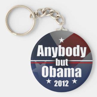 Anybody but Obama 2012 Basic Round Button Key Ring