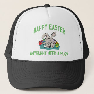 Anybunny Need A Hug Happy Easter Ladies Trucker Hat