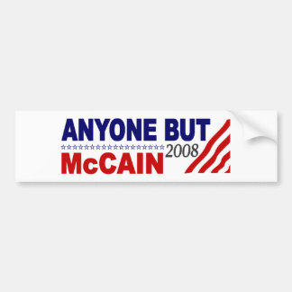 Anyone But Mccain Bumper Stickers