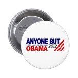Anyone But Obama 2012 6 Cm Round Badge