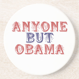 Anyone but Obama Beverage Coaster
