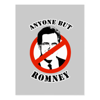 Anyone but Romney Postcards