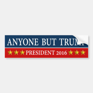 """ANYONE BUT TRUMP"" BUMPER STICKER"