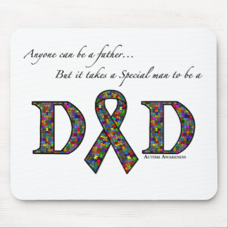 Anyone can be a father...autism mouse mat