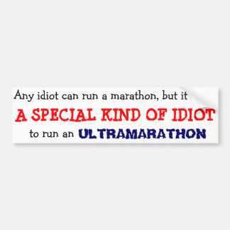 anyone can run a marathon car bumper sticker