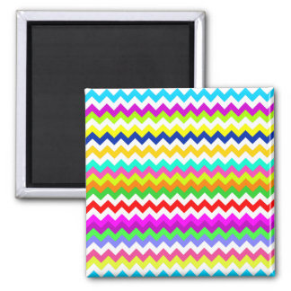 Anything But Gray Chevron Zig Zag Square Magnet
