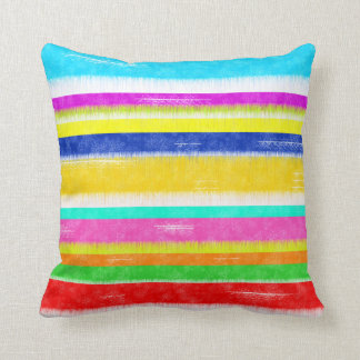 Anything But Gray Distressed Stripes Cushion