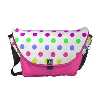 Anything But Gray Polka Dots Messenger Bag