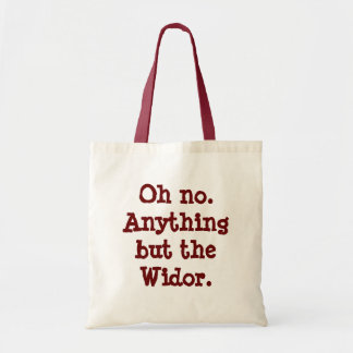 """Anything but the Widor"" shopping bag"