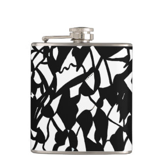 Anything Goes Abstract Flask