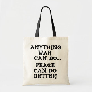 ANYTHING WAR CAN DO BUDGET TOTE BAG