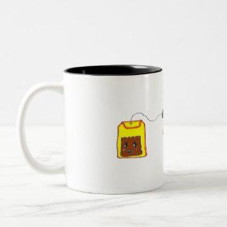 Anytime is Tea Time - Black Tea Bag Two-Tone Coffee Mug