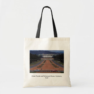 Anzac Parade and Parliament House, Canberra, Austr Bags
