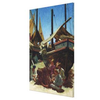 Anzio, The Port Canvas Print