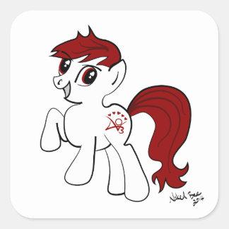 AO3 Pony Square Sticker