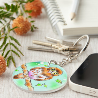 aobazuku Double-Sided round acrylic key ring