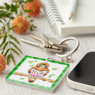 aobazuku Double-Sided square acrylic key ring
