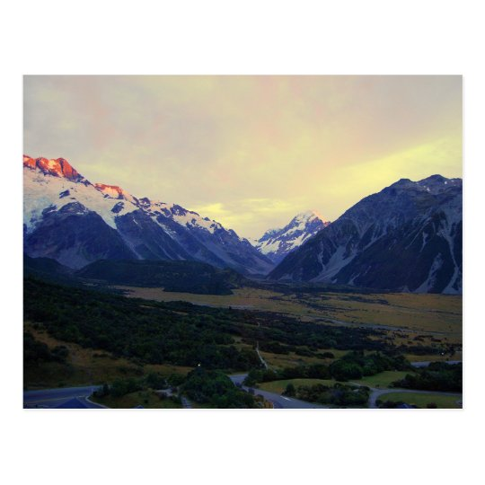 Aoraki Mount Cook at Sunrise, NZ Postcard