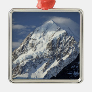 Aoraki Mount Cook, Mackenzie Country, South 2 Silver-Colored Square Decoration