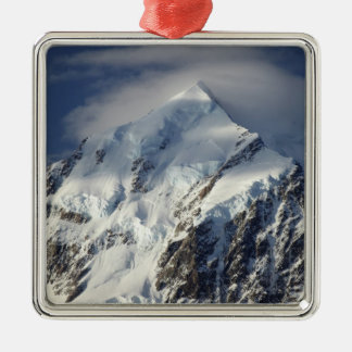 Aoraki Mount Cook, Mackenzie Country, South Silver-Colored Square Decoration