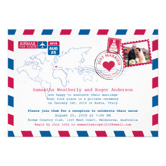 Aosta Italy Air Mail Post Reception Custom Announcement