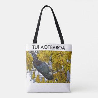 aotearoa new zealand tui 4 tote bag