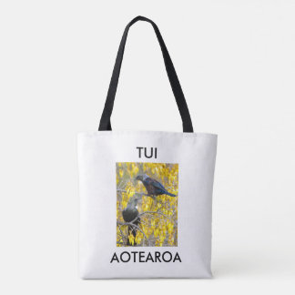 aotearoa new zealand twin tuis 2 tote bag