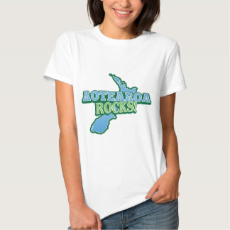 Aotearoa Rocks! New Zealand map Shirt