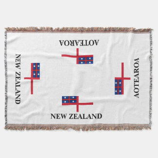 AOTEAROA united tribes flag throw from new zealand