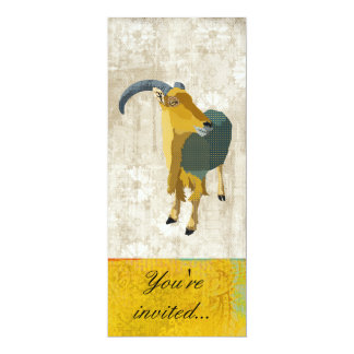 Aoudad Gold & White Invitation