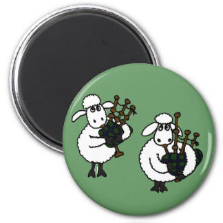 AP- Awesome Sheep Playing Bagpipes 6 Cm Round Magnet