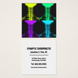 AP Cervical X-Ray Art Square Chiropractic Square Business Card