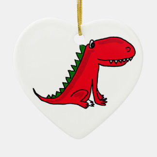 AP- Red and Green Dragon Cartoon Ornament