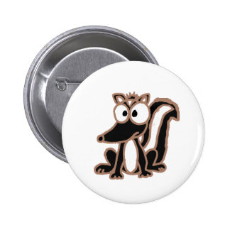 AP- Silly Skunk Cartoon Button