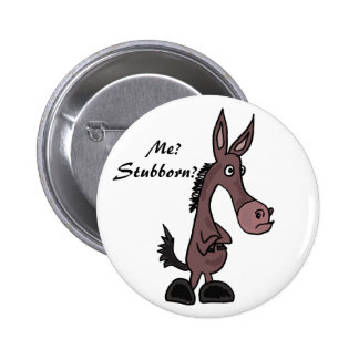 AP- Stubborn Mule Cartoon Button