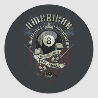 APA 8 Ball Classic Round Sticker