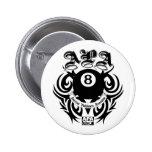 APA 8 Ball Gothic Design 6 Cm Round Badge